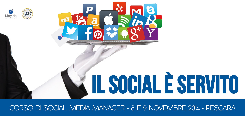 Corso di Social Media Manager 8-9 Novembre 2014 - Pescara